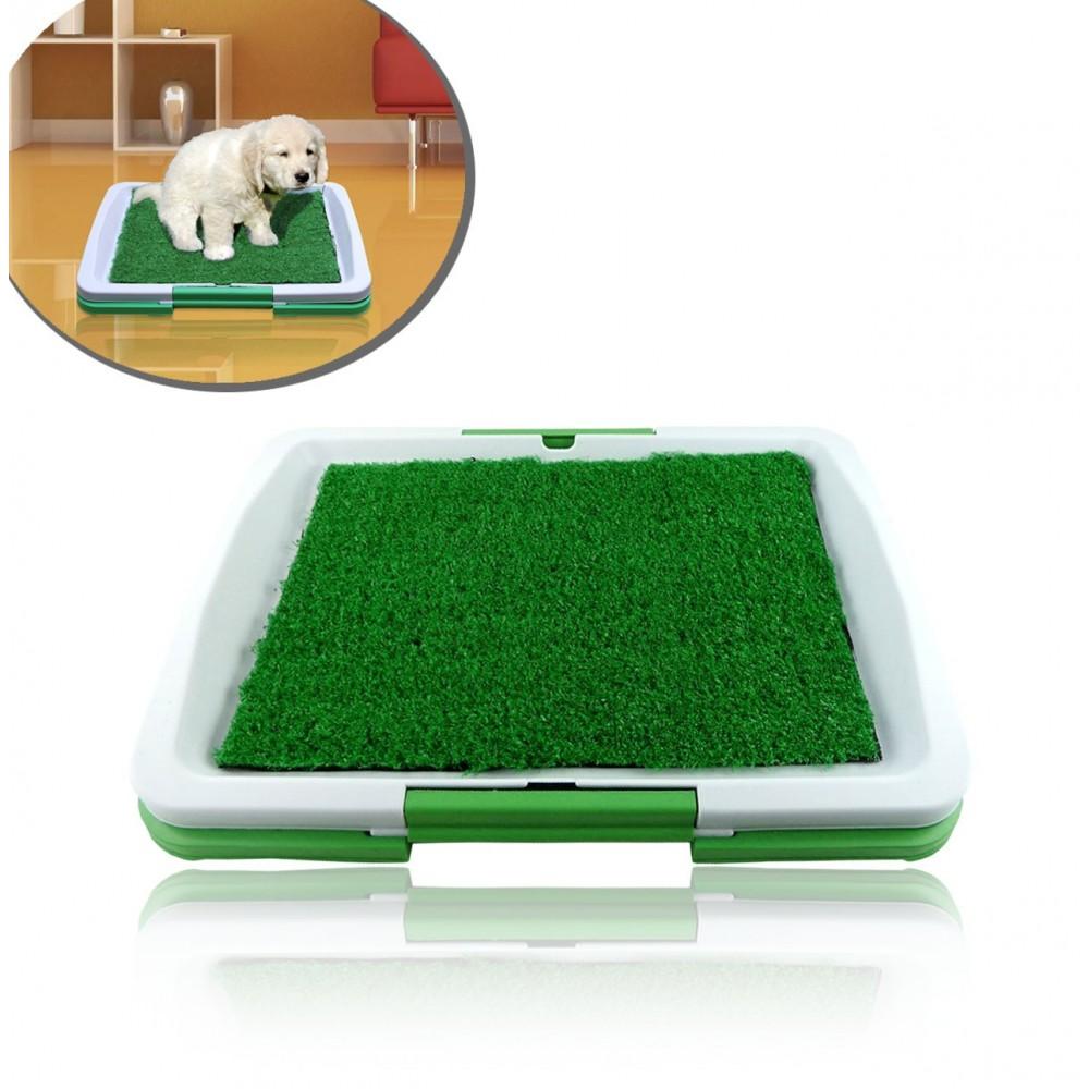 Lettiera 47 x 34 x 6 cm erba sintetica per animali domestici toilette POTTY PAD lavabile 3 strati