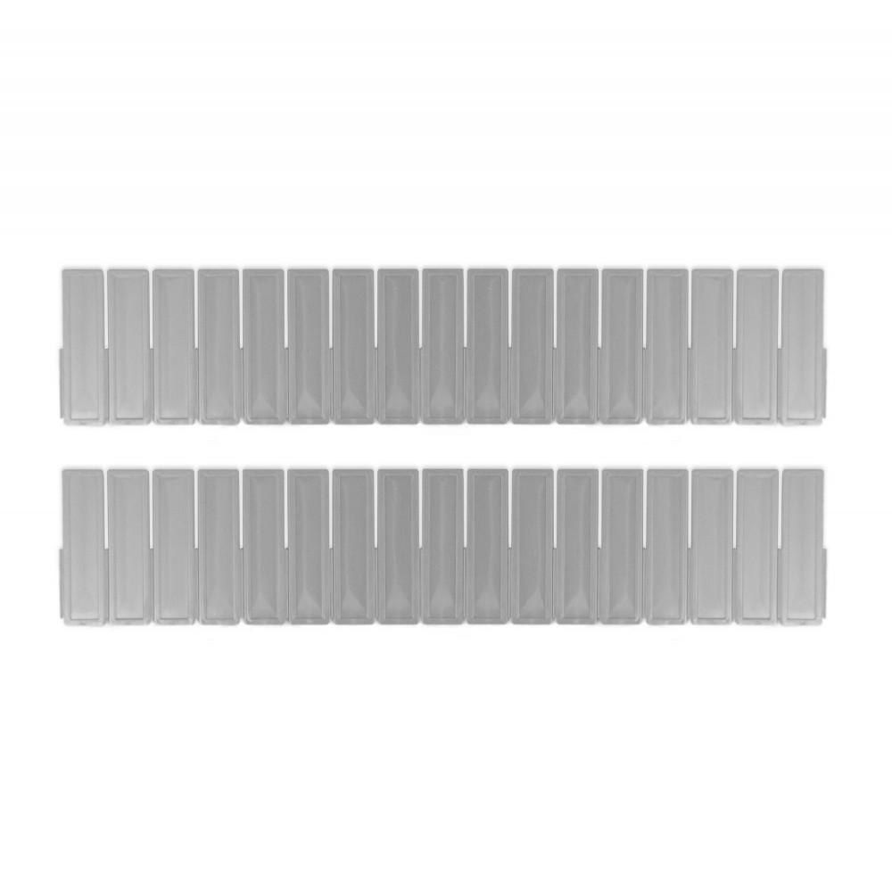 Cassettiere In Plastica Componibili.Pack 2 Divisori Organizer Componibili Per Cassetti In Plastica