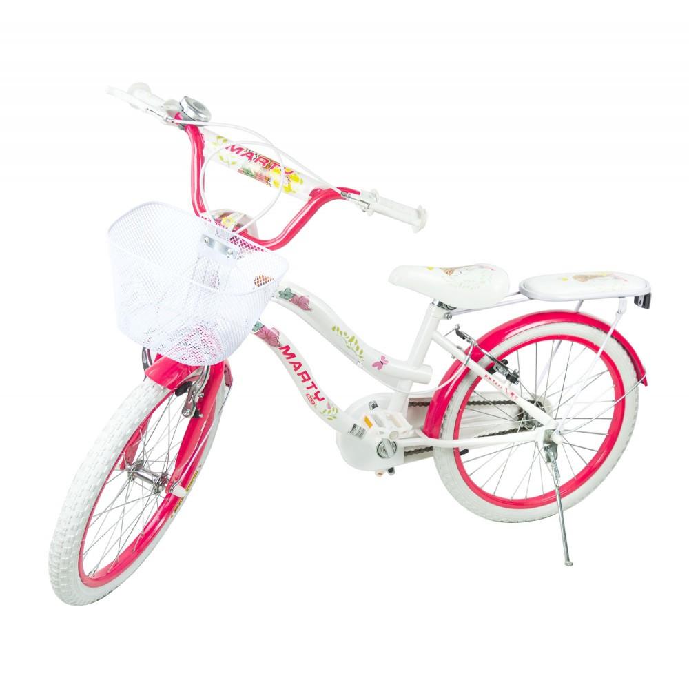 Bicicletta bambina MARTY misura 20 ruote alte età 6-10 con cestino
