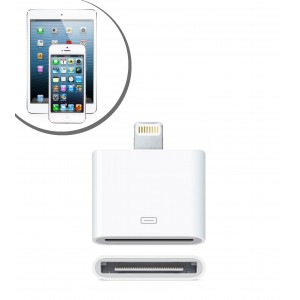 Adattatore da cavo Lightning  a 30 Pin per iPhone 5 iPad / iPod Nano Touch