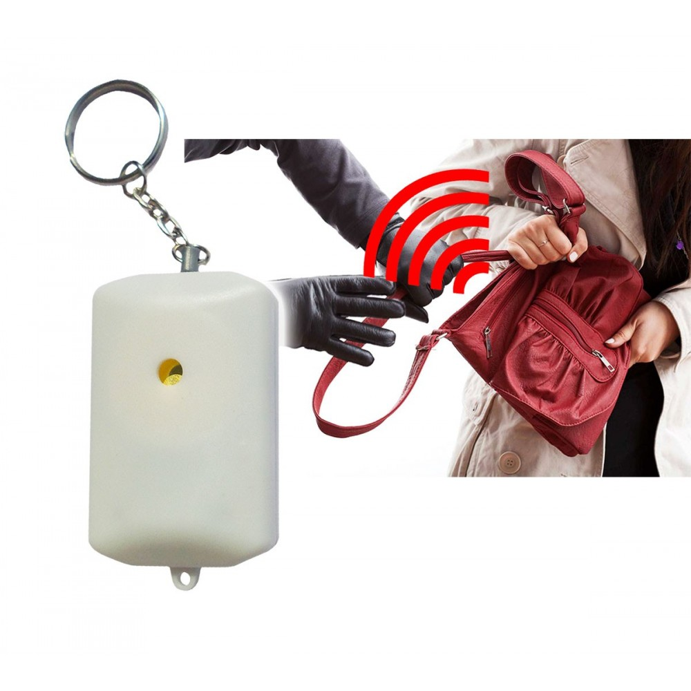 Piccolo allarme antipanico acustico 90 dB tascabilefurto aggressione FIRST ALARM