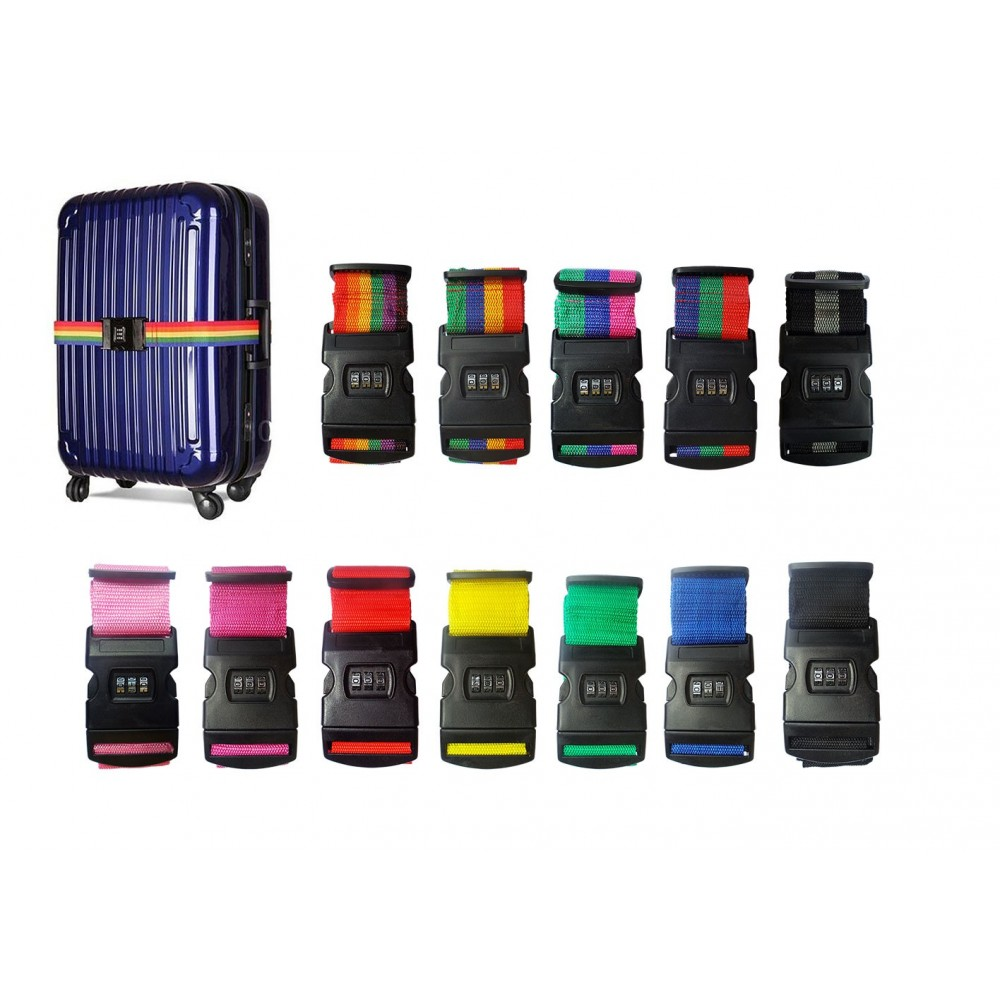 Cintura bagaglio con lucchetto combinazioni 3 numeri cinghia proteggi valigia