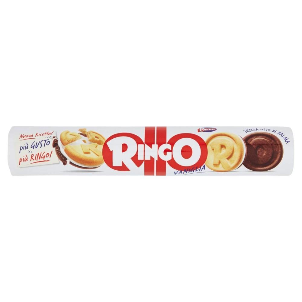 3 pacchi di Ringo Biscotti tubo Vaniglia 12 pezzi da 165 g Pavesi