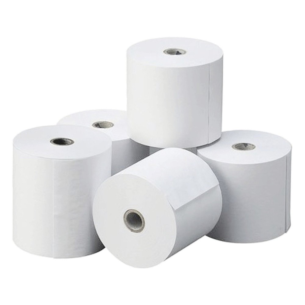 Pack 10 rotoli carta termica ONE OFFICE per Cassa 80mm x 80mt foro12mm 55gr