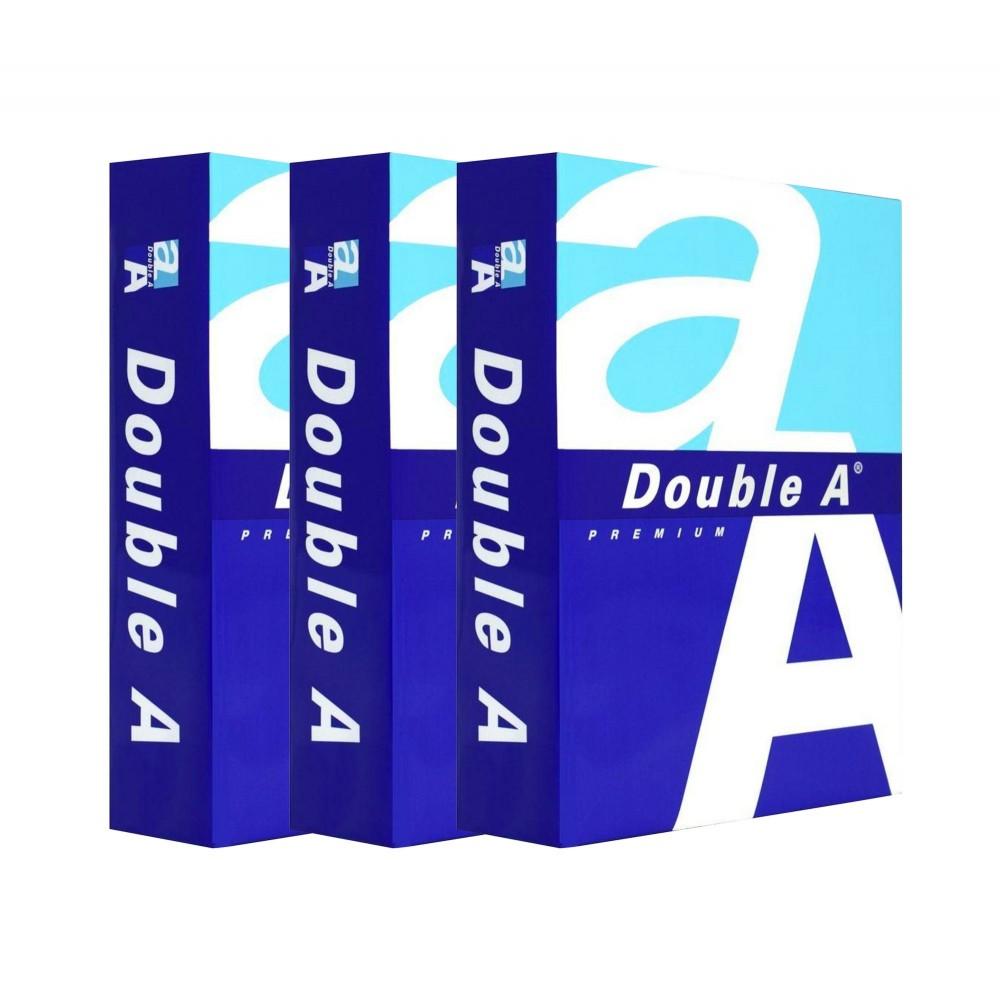Pack da 3 Risme di carta 015430 formato A5 500 fogli da 80 g DOUBLE A Premium