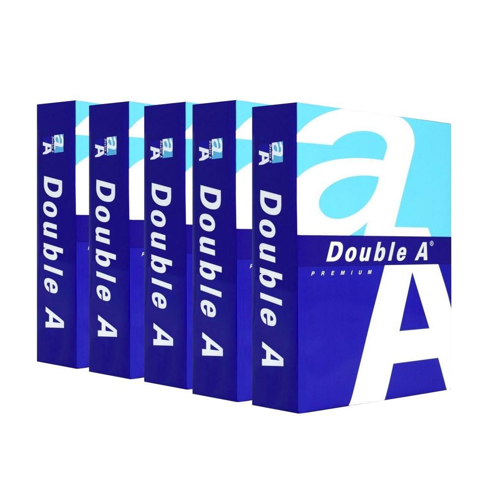 Pack da 5 Risme di carta 015430 formato A5 500 fogli da 80 g DOUBLE A Premium