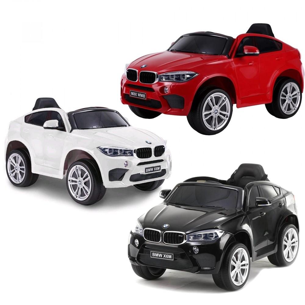 Auto elettrica bambini B80153 BMW X6M MONOPOSTO 12V telecomando RADIO FM