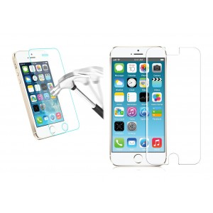 Pellicola trasparente in vetro temprato smartphone  protegge lo schermo da urti e cadute Iphone 5 / 5c / 5s