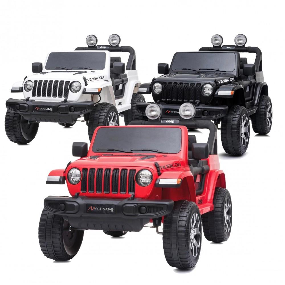 Jeep Wrangler LT908 bambini 12V BIPOSTO telecomando luci e suoni Schermo MP4