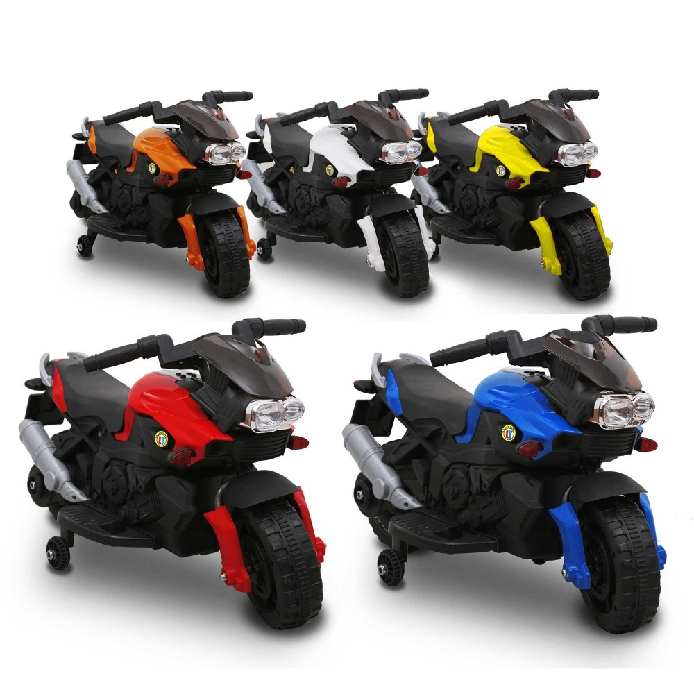 Moto elettrica LT868 per bambini SPRINT controllo a pedale con luci e suoni