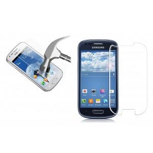 Pellicola trasparente in vetro temprato smartphone  protegge lo schermo da urti e cadute SAMSUNG S3 MINI