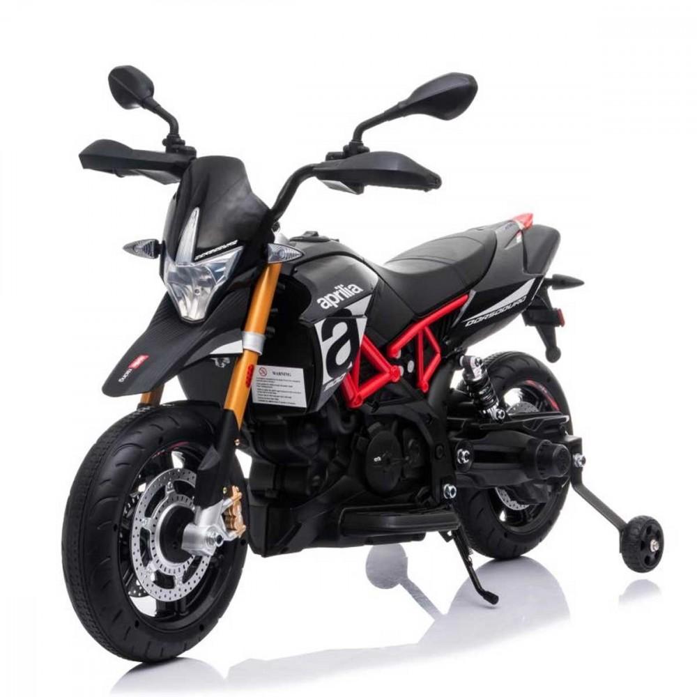 Moto elettrica LT909 Aprilia Dorsoduro 900 EVA per bambini luci e suoni