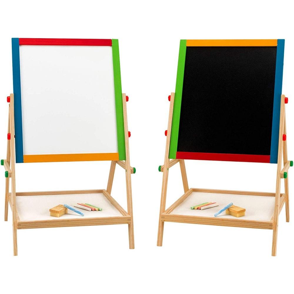 Lavagna reversibile 2 in 1 multiuso 30 x 35,5 cm con gessetti e pennarello