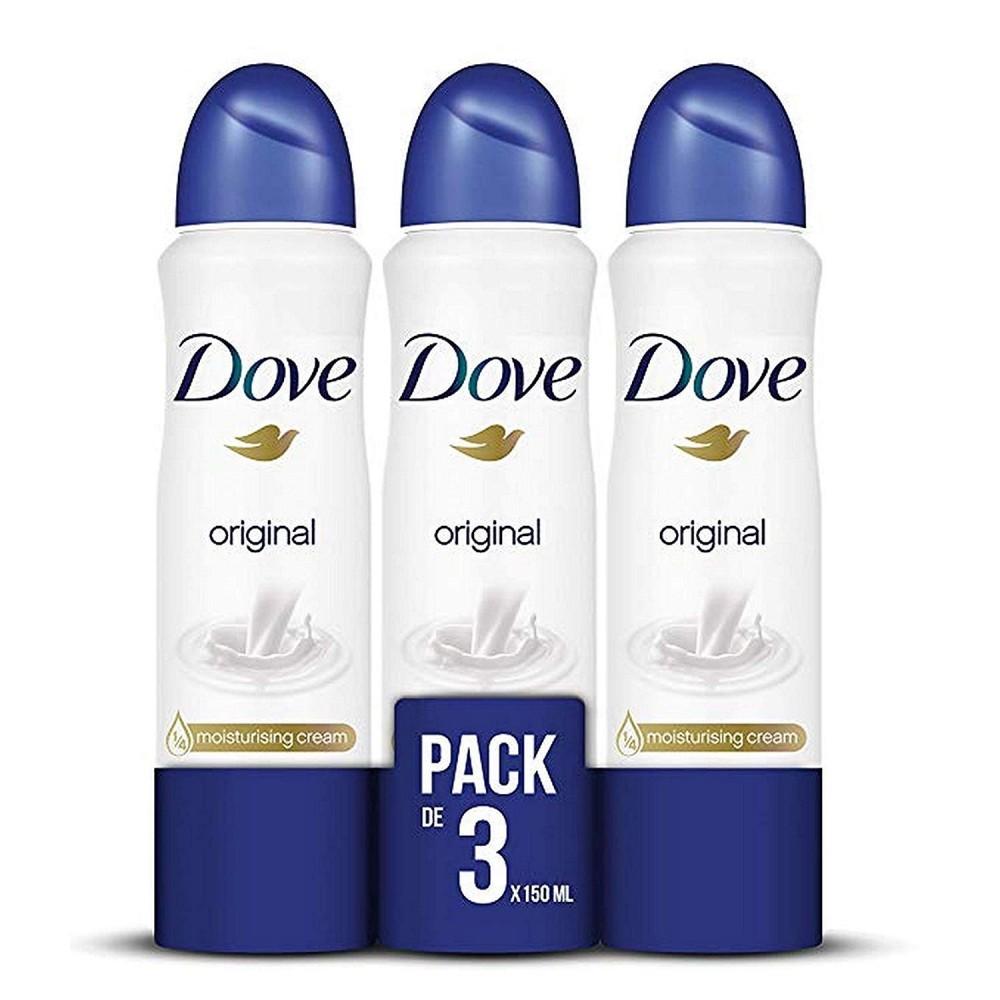 Pack da 3 pz Dove ORIGINAL deodorante Spray 48h 150ml Moistorising Cream