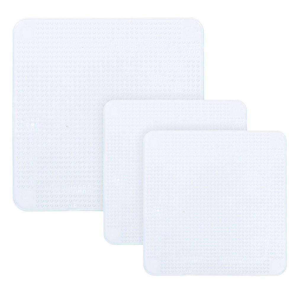 Set di 3 Tappi di silicone riutilizzabili estensibili e sigillanti per alimenti