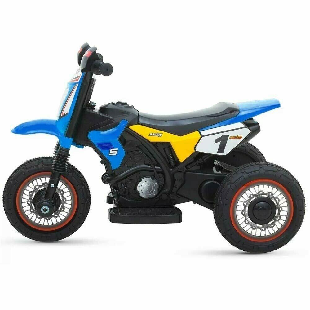 Moto elettrica per bambini con rotelle mini motocicletta da cross batteria 6v