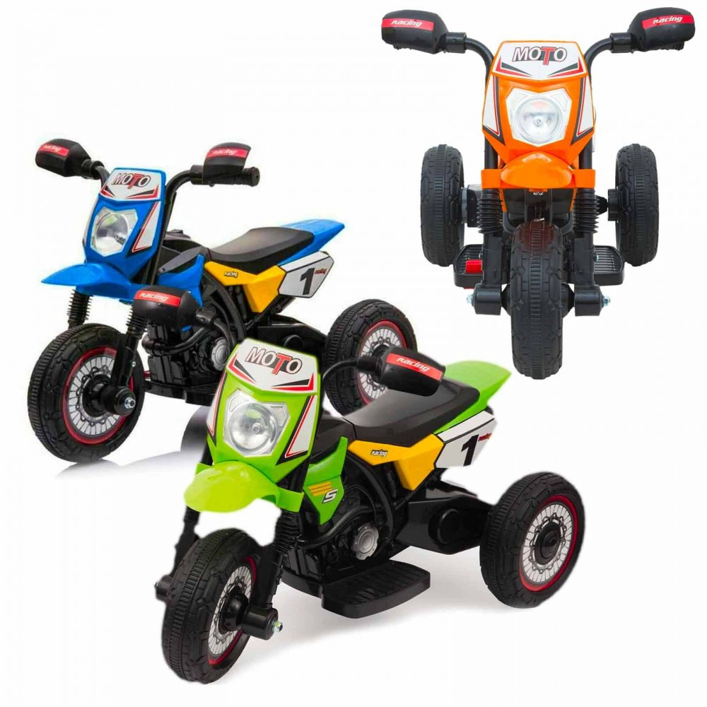 Mini cross elettrica LT903 per bambini Poket monoposto 6V tre ruote