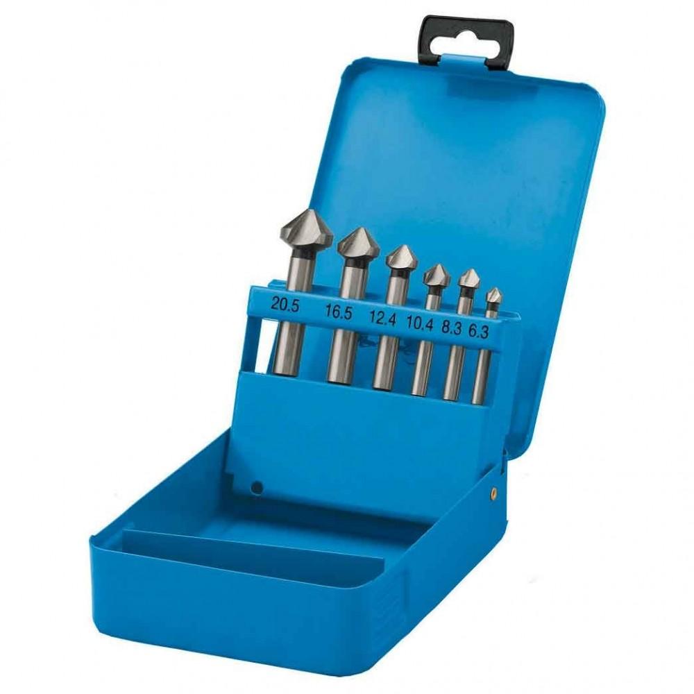 Set frese SD0601 punte coniche allargafori astuccio alluminio 6 pz 6.3 - 20.5 mm