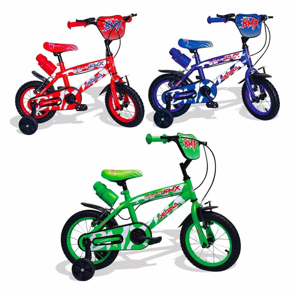 REGINA BMX GVC-5422 Bicicletta per Bambini misura 12 con 2 Freni 3 colori