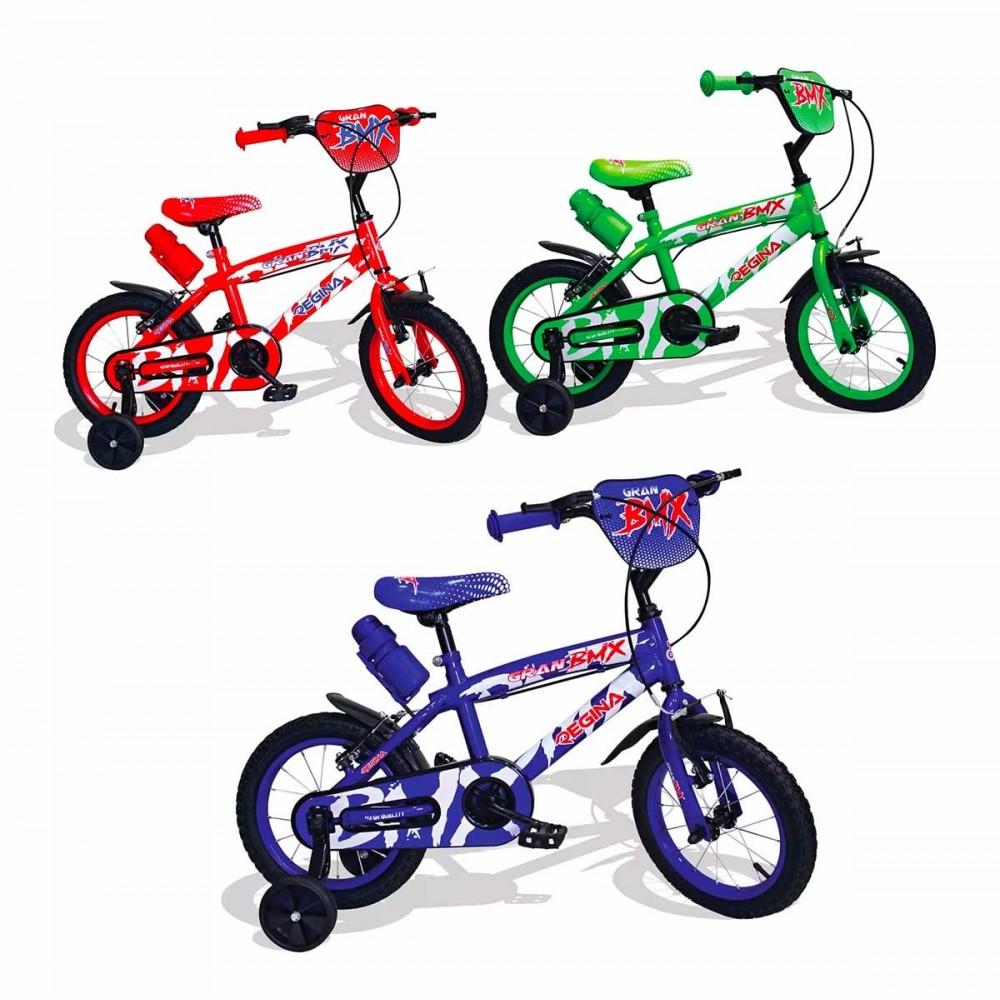 REGINA BMX GVC-5423 Bicicletta per Bambini misura 14 con 2 Freni 3 colori