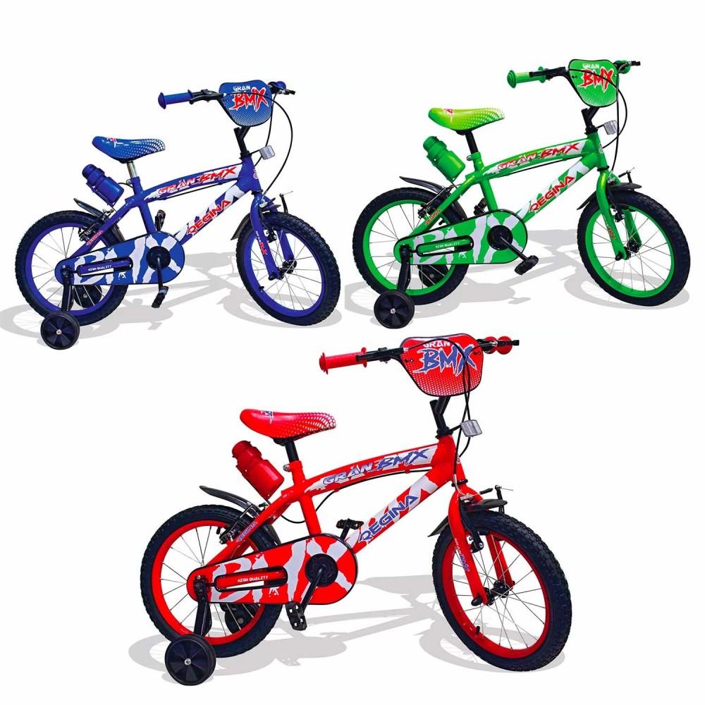 REGINA BMX GVC-5424 Bicicletta per Bambini misura 16 con 2 Freni 3 colori