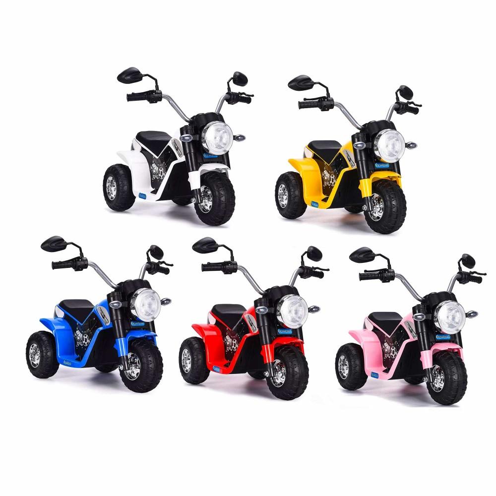 Moto BABY Elettrica LT889 per Bambini 6V Kid Go 3 ruote con luci