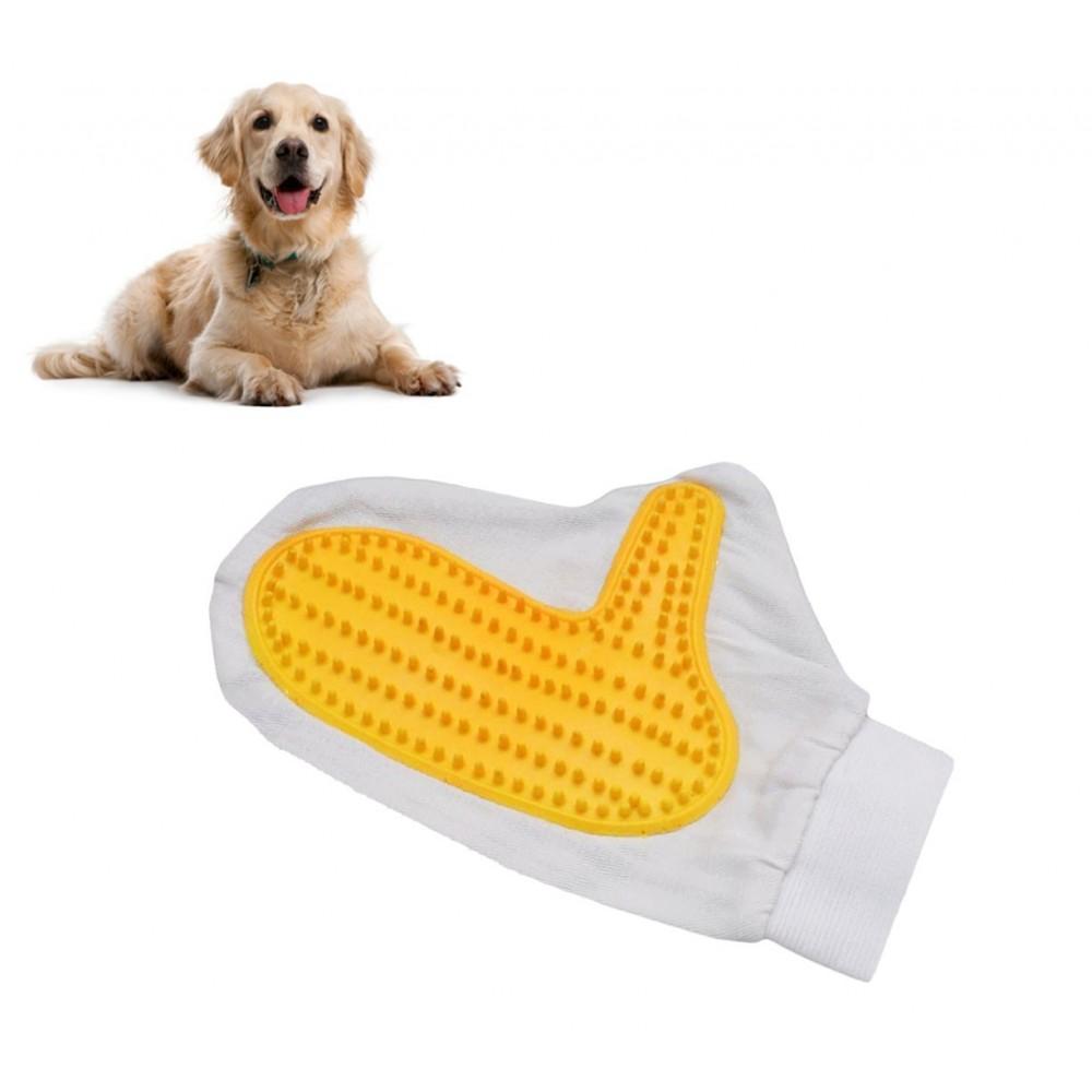 Guanto spazzola per la cura del pelo e la pulizia cane e gatto