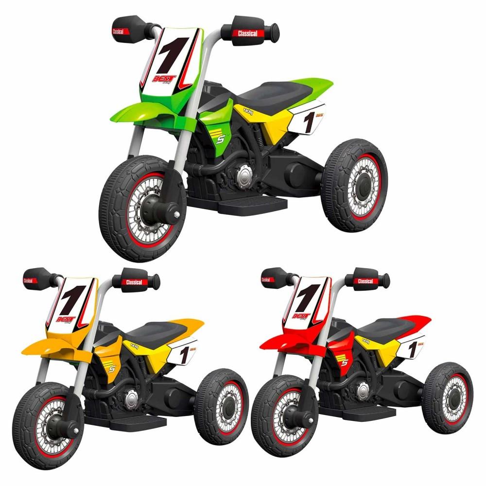 MOTO ENDURO 6V per bambini GVC-5478 con luci anteriori suoni e rotelle