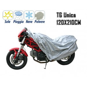 Telo coprimoto universale in pvc copri scooter tg unica 120x210 cm impermeabile