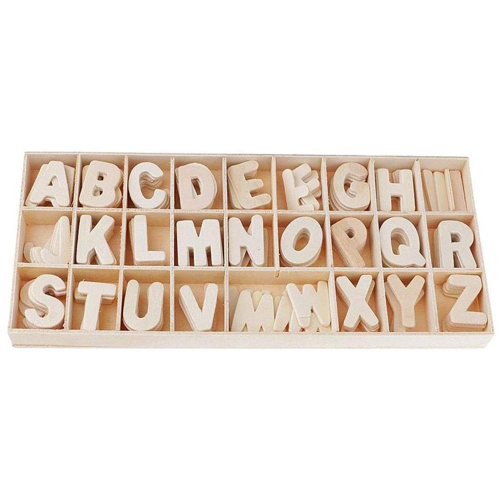 Box Lettere 130pz per decoupage in legno 146149 shabby chic decorazione