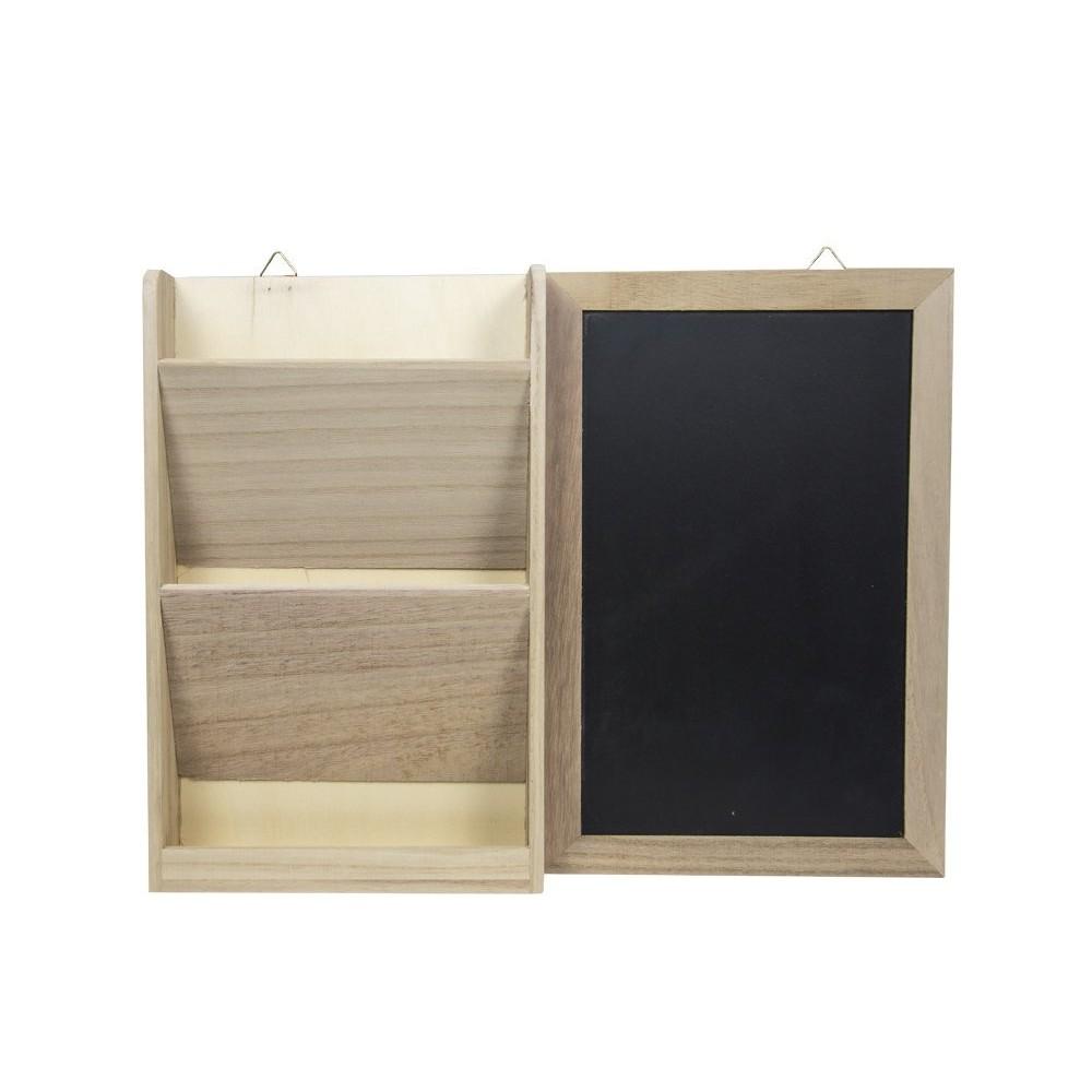 Cuori Foglio Lavagna portalettere 2 ripiani 386057 Decoupage in legno shabby