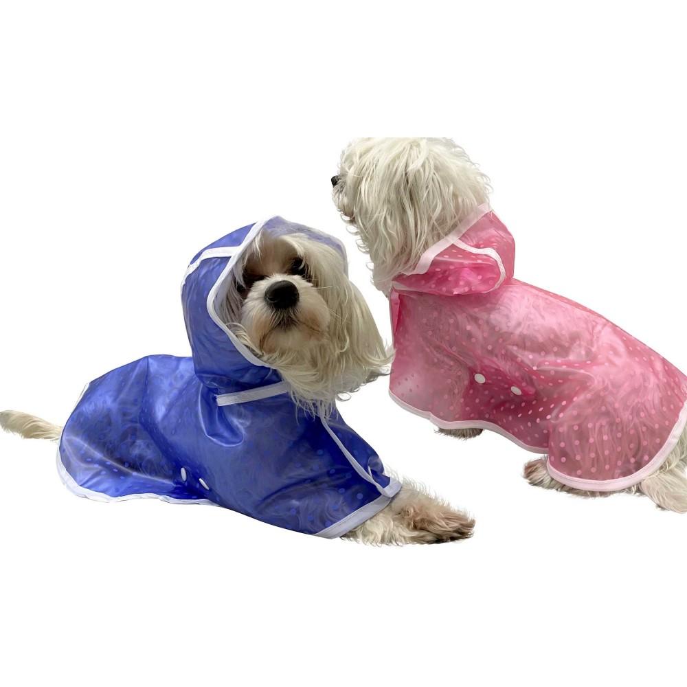 Impermeabile per cani e gatti taglia media 4494 con cappuccio antipioggia