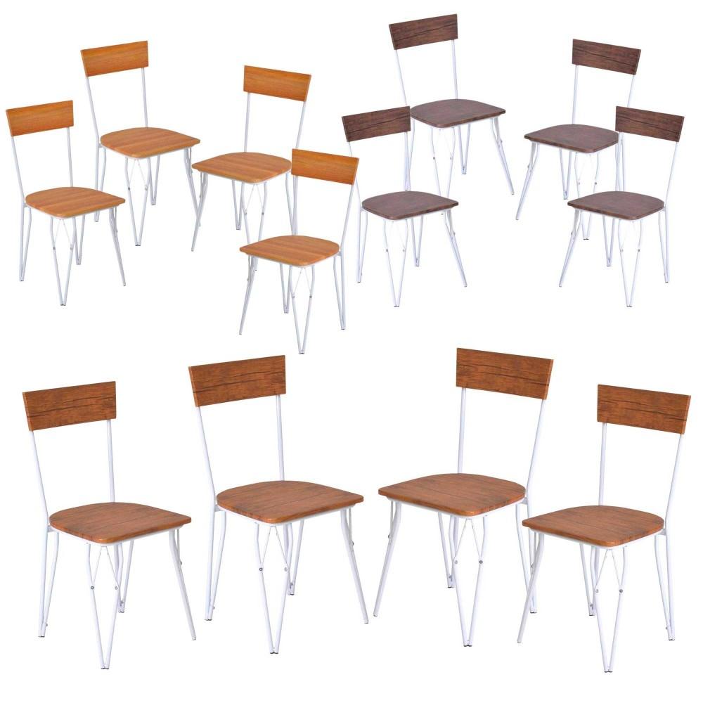Set di 4 sedie design Contemporary ENRICO COVERI in Legno telaio in metallo