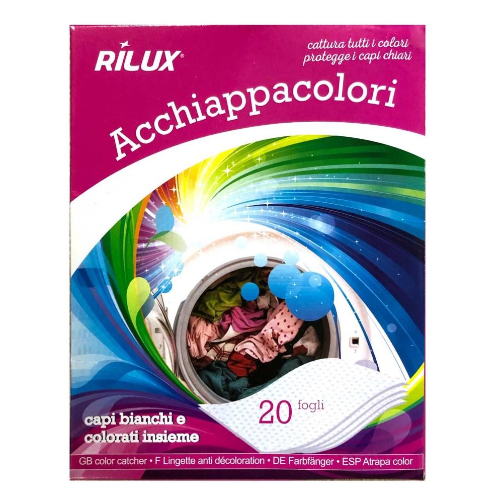 Fogli cattura colore RILUX per lavatrice 055557 pack da 20 pz acchiappacolore