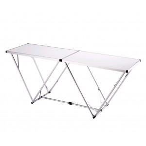 Tavolo multiuso in legno solido pieghevole e di facile trasporto per lavoro o per il tempo libero