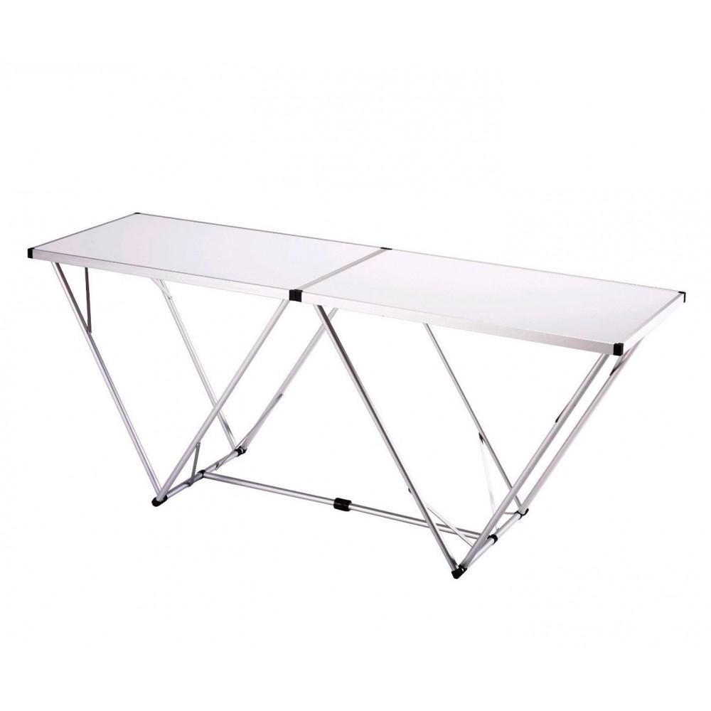 Tavolo multiuso in legno solido pieghevole e di facile trasporto for Tavolo in legno pieghevole