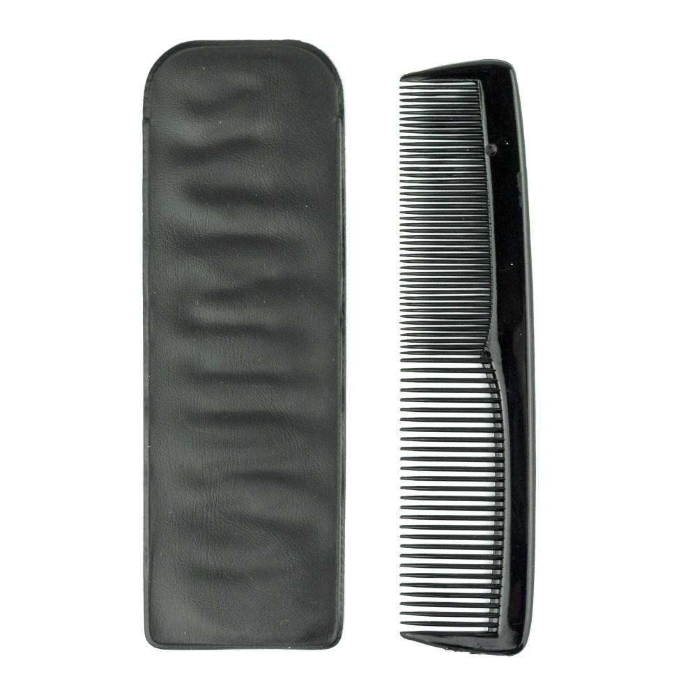 Pettine barbiere 933549 con custodia 14 cm adatto per barba capelli doppia trama