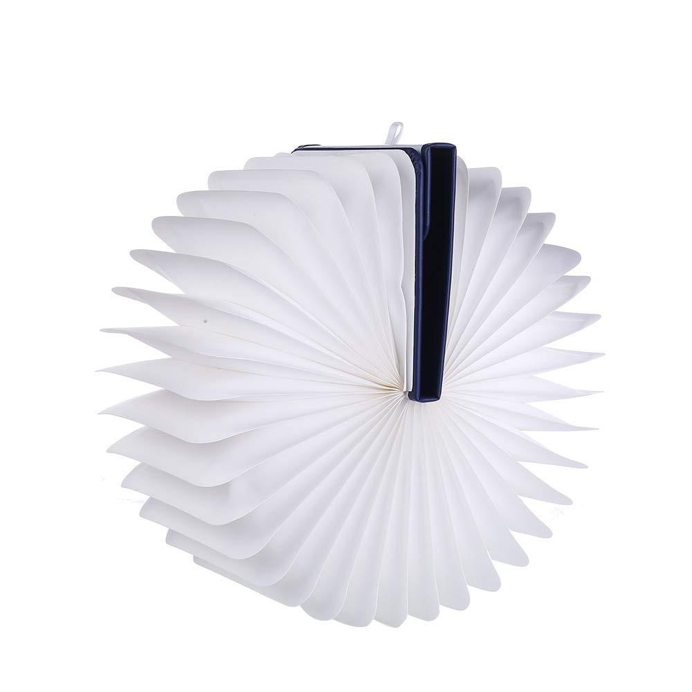 Lampada led ruotabile a fisarmonica faldoni luminosi  22x16x2.5cm attacco usb