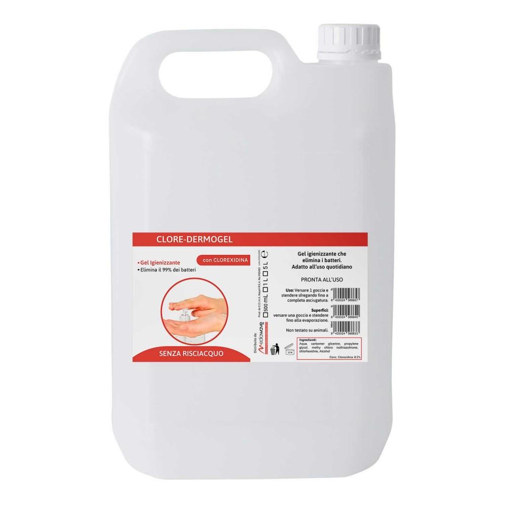 GEL Igienizzante DERMOGEL alla CLOREXIDINA sanificante senza risciacquo 5 LITRI