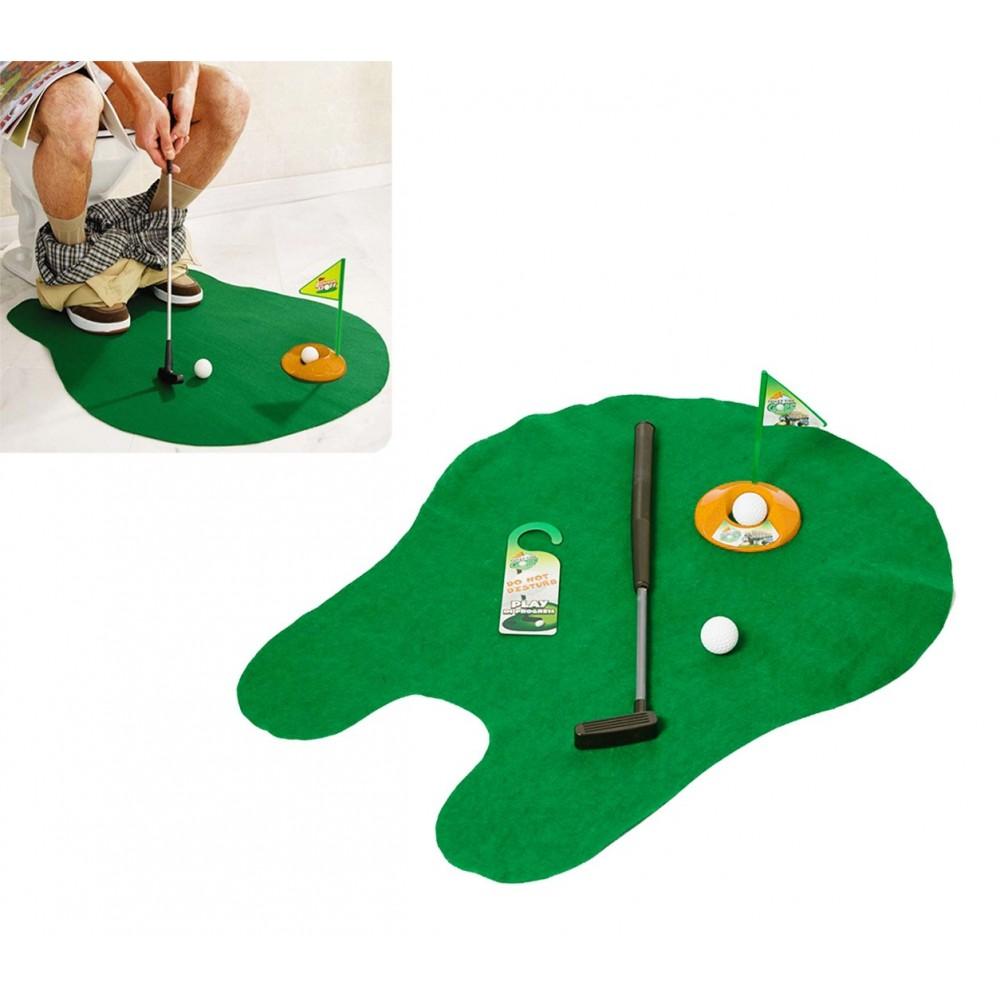 Gioco golf da bagno minigolf toilette set da gioco completo svago e divertimento