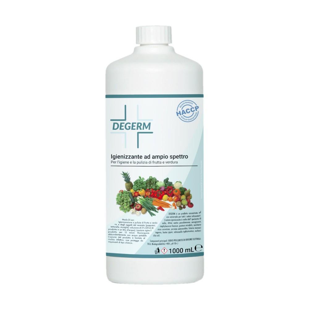 DEGERM sanificante igienizzante per lavare frutta e verdura 1 LT bio igiene