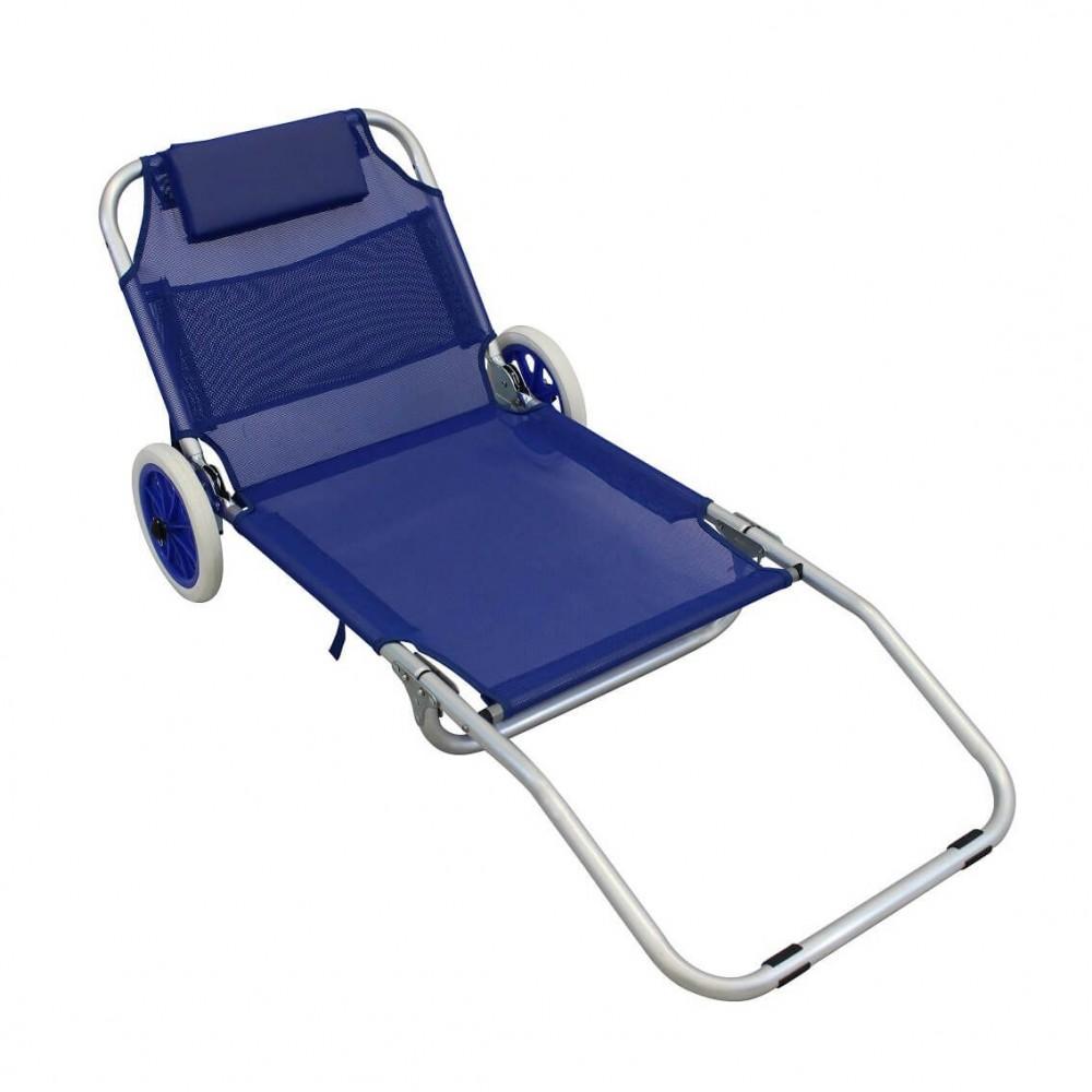 Sdraio in metallo Prendisole Onshore 270868 schienale regolabile con rotelle