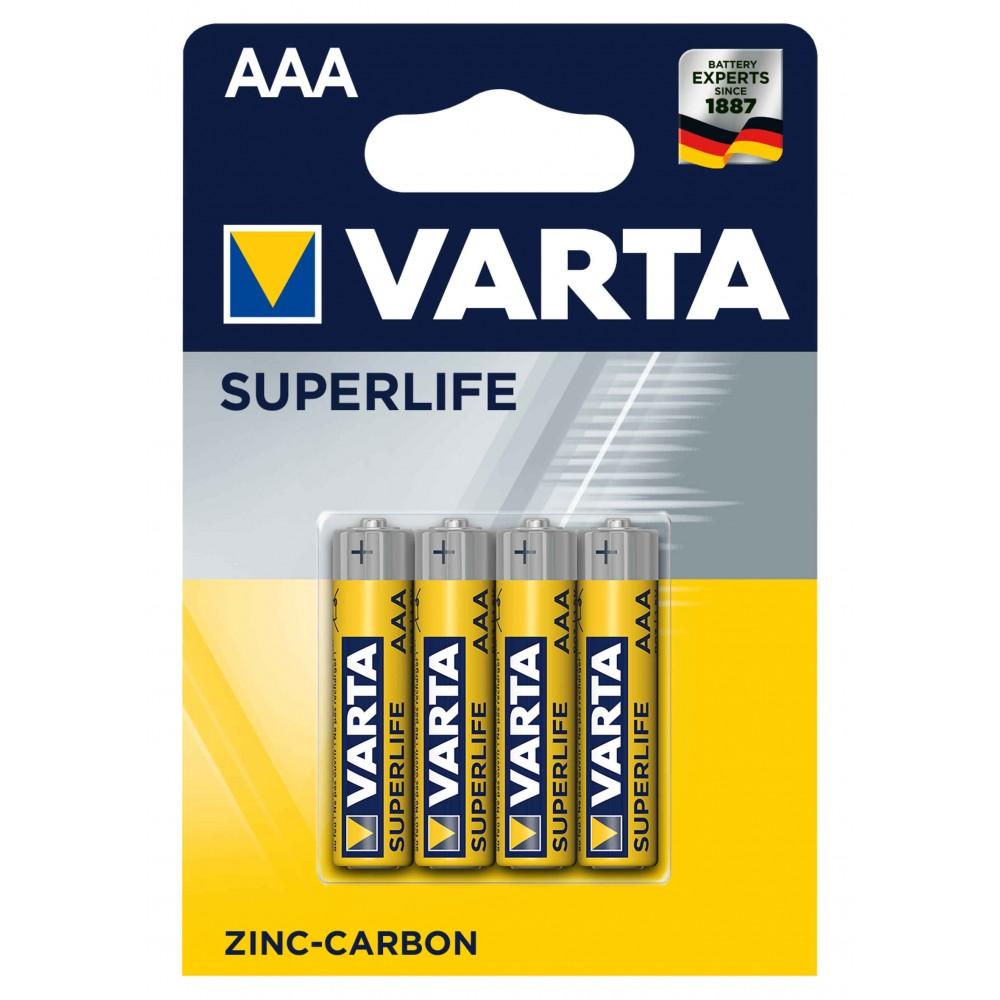 Confezione da 4 batterie mini stilo AAA Varta 676187 zinco carbone 1.5V