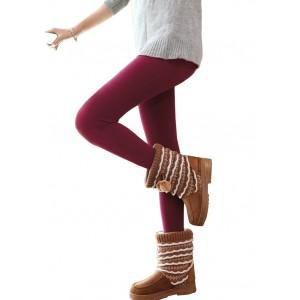 Pack da 5 leggings vari colori donna effetto termico interno felpato elasticizzato collant winter fuseaux