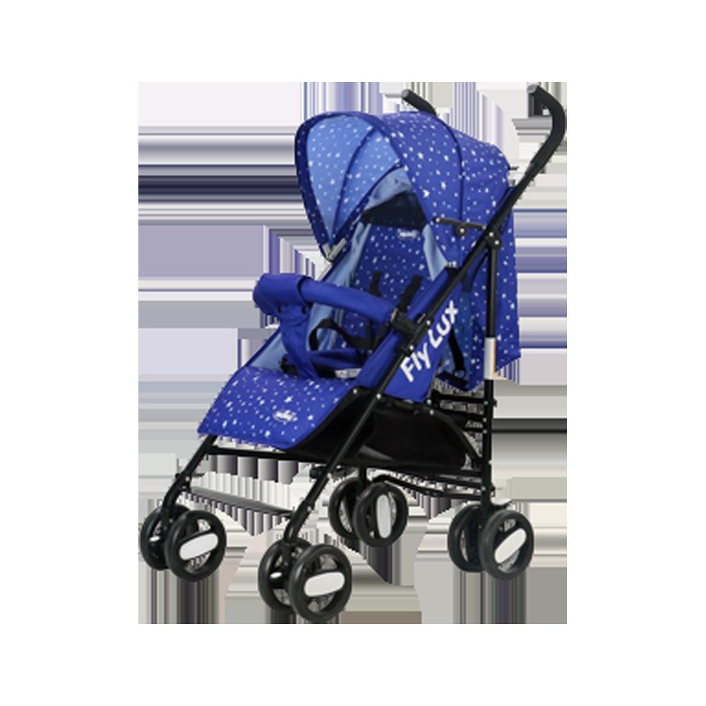 Passeggino NUNU' Fly Lux NU-S200-BL blu con stelle 516100 con Borsa 105x50x63 cm