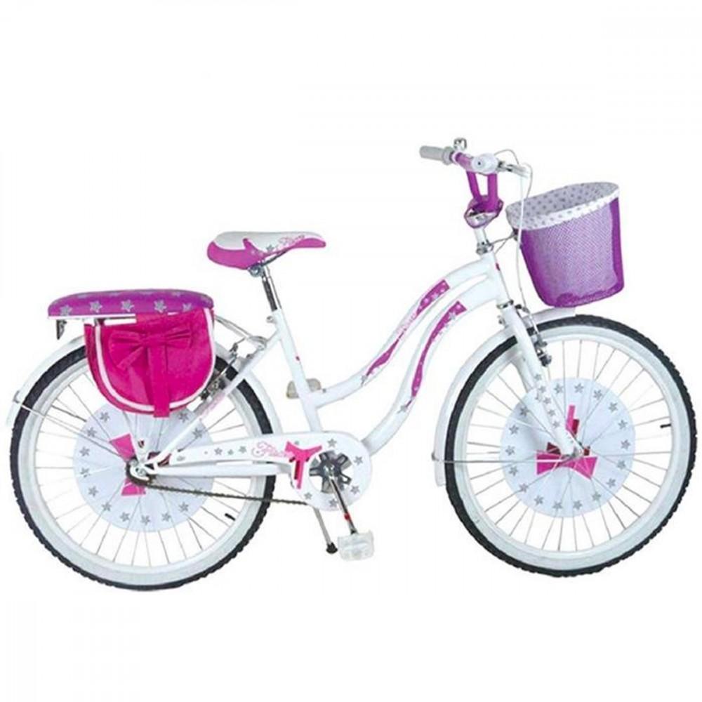 Bicicletta FIOCCO BKT taglia 20 bici per bambina Con cestino età 7 - 13 anni