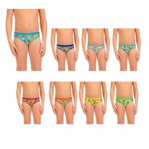 Pack di 3, 6 o 12 slip con stampe colorate per bambini da 2 a 13 anni design vivace e colorato