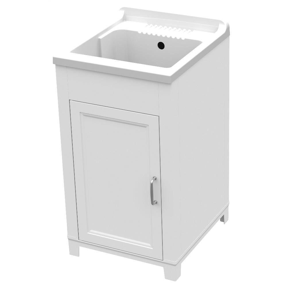 Lavatoio in resina e pvc Interno Esterno 45x50cm art 9231 mobile colore bianco