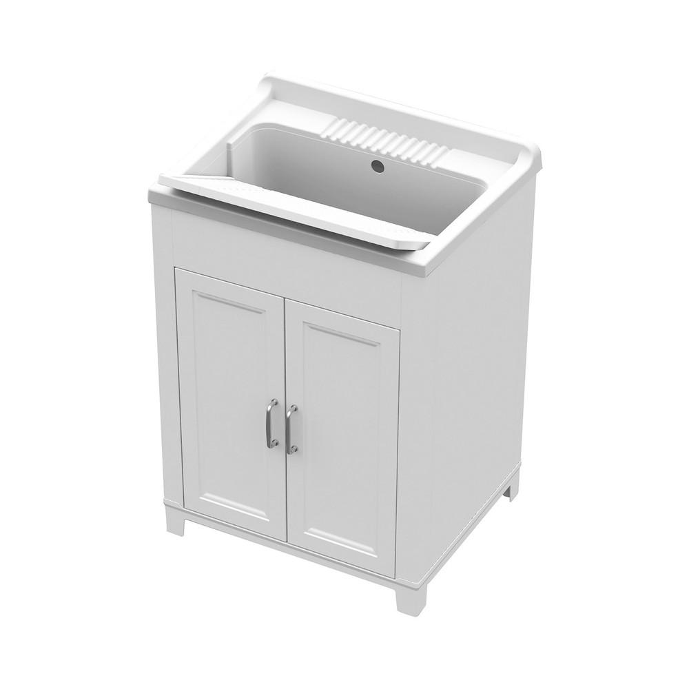 Lavatoio in resina e pvc Interno Esterno 60x50cm art 9232 mobile colore bianco