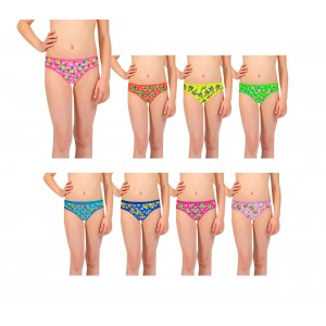 Pack di 12 slip con stampe colorate per bambine da 2 a 13 anni design vivace e allegro